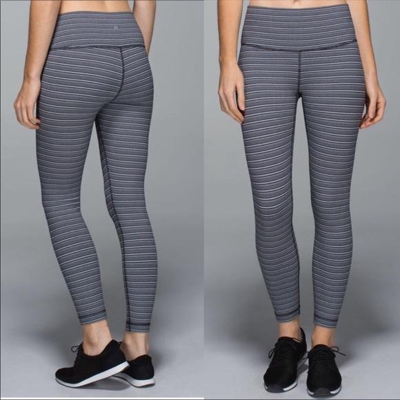 ac0754c9cd4165 lululemon athletica Pants - Lululemon High Times Pant in textured stripe